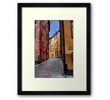 Alley Way II - (The Old City) Stockholm, Sweden Framed Print