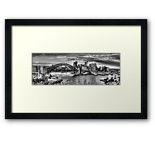 It's All Black & White - Sydney harbour, Sydney Australia (20 Exposure HDR Pano) - The HDR Experience Framed Print