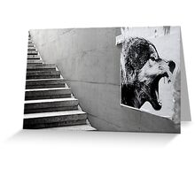 Paris - The wild stairs. Greeting Card