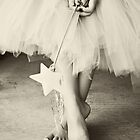 Ballerina Toes, Black &amp; White- Little Girl in a Tutu by sunrisern