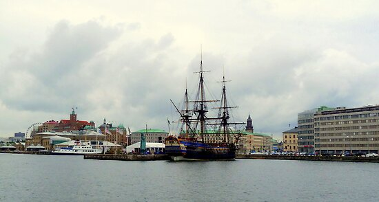 "The East Indiaman ""Götheborg"" in Gothenburg Harbour by HELUA"