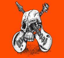 Skull and crossed guitars T-Shirt