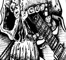 Skull and crossed guitars Sticker