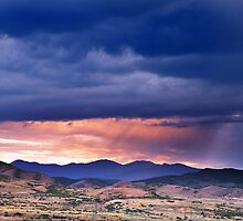 Sunset Over Kennecott Copper Mine by Ryan Houston