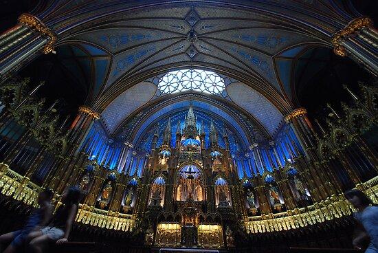 La Basilique Notre - Dame de Montreal by John Schneider