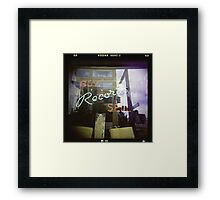 Never Cool Enough to Work at a Record Store Framed Print