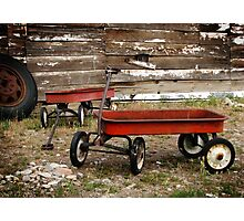 Vintage Red Wagons Photographic Print