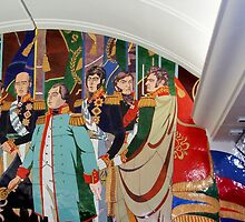 Wall Art in the Moscow Metro by jerryannjinnett