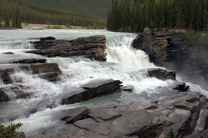Athabasca Falls by Sean Jansen