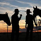 Drovers at Sunset in Camooweal by Carmel Williams