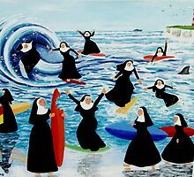 Surfing Sisters by Anni Morris