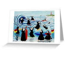 Surfing Sisters Greeting Card