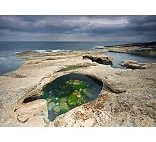Rock Pool At Howick Bay Photographic Print