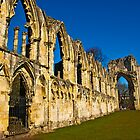 Ruins of St Mary&#x27;s Abbey  -  York #3 by Trevor Kersley