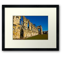 Ruins of St Mary's Abbey  -  York #3 Framed Print