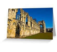 Ruins of St Mary's Abbey  -  York #3 Greeting Card