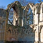 Ruins of St Mary&#x27;s Abbey  -  York #5 by Trevor Kersley