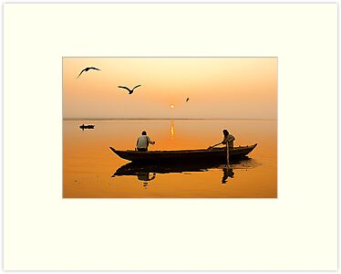 The Holy Ganga and the Morning Time. by Mukesh Srivastava