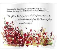 Affirmation for MY INNER CHILD Poster