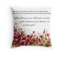 Affirmation for MY INNER CHILD Throw Pillow