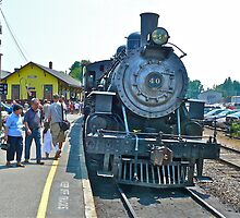 Number #40 Steam Engine at Essex Station © 2010.07.17 by Jack McCabe