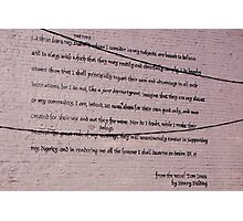 A Tom Jones Tribute to Henry Fielding   Photographic Print