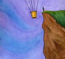Cliffhanger - Scene with a Balloon and a Cliff by Tim Gorichanaz