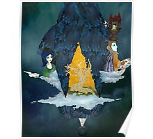 Little Blue Ship at Night Poster