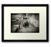 Lovers by the Seine Framed Print
