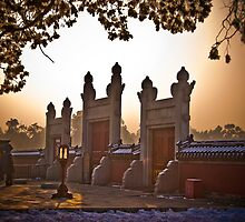 Entrance to the Circular Mound  Altar at the Heavenly Temple, Beijing by Daniele  Buccheri