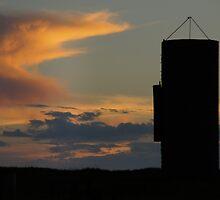 Silo against the sky by agenttomcat
