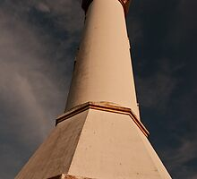 Red Sunset at Bolinao's Famous lighthouse by dandiaz