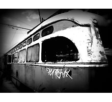 """All aboard the train for those who have abandoned all hope! All Aboard!"" Photographic Print"