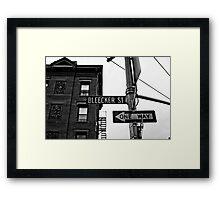 Bleecker Street, NYC Framed Print