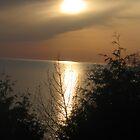sunset beach by Leeanne Middleton