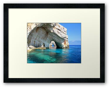 Blue Arches - Zante, Greece by Honor Kyne
