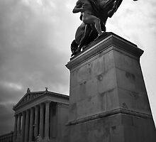 Statue, Vienna Austria by Laura Sanders
