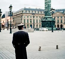 The Valet in Place Vendôme - Paris by Yanick Delafoge
