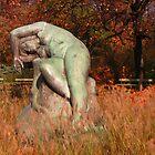 Monument in Warsaw Ujazdowski Park by Lukasz Godlewski