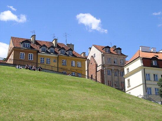 Warsaw Old Town - view point at Brzozowa street by Lukasz Godlewski