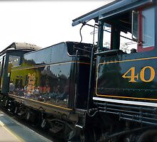 #40 Prepares to Depart the Essex Railroad Station - Connecticut, USA by Jack McCabe