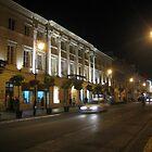 Warsaw by night - Nowy Swiat street by Lukasz Godlewski