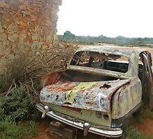Old Car at Silverton near Broken Hill by Juilee  Pryor