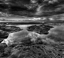 Nth Curl Curl Ocean Baths - HDR mono by Ian English