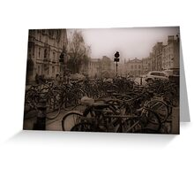 Oxford Bikes Greeting Card