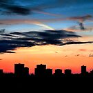Manchester Skyline at Sunset by Mark  Dodds