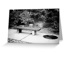 Waiting for You Black and White Greeting Card