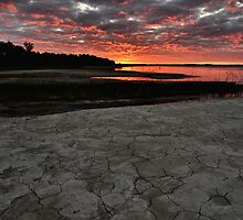 Dry Lake Sunrise by Lyana Votey