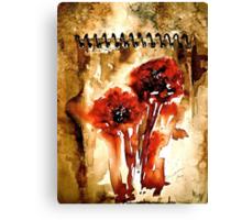 The Poppy Journals.. Canvas Print