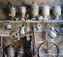 Repair shop, Lahic, Azerbaijan by Clive Temple